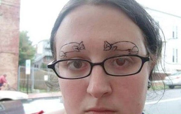 40 Of The Worst Eyebrow Fails. Just Don't Do It!