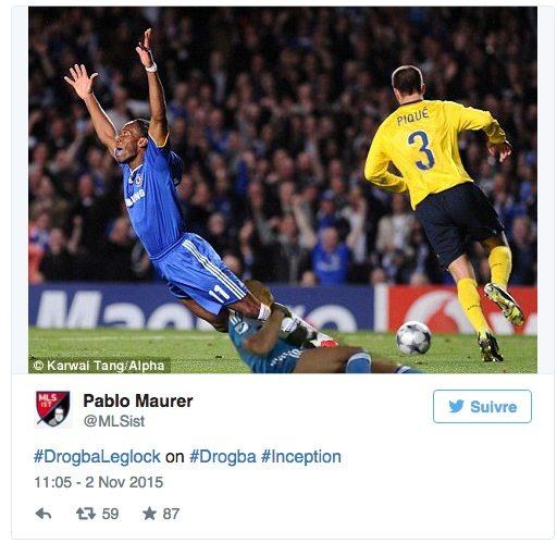 Didier Drogba jambe
