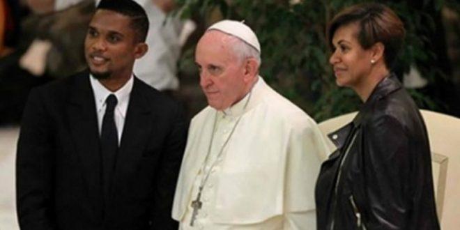 samuel eto'o pape francois