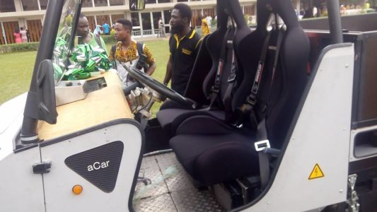 voiture solaire université ghana